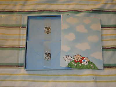 Vintage 1980's American Greetings Wilson ZIGGY & FUZZ STATIONARY in box