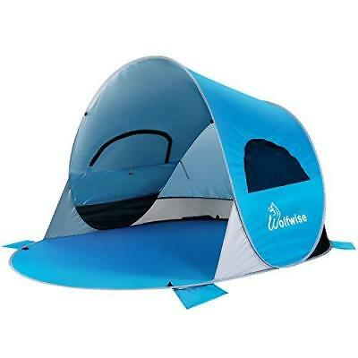 Wolfwise UPF 50+ Easy Pop Up Beach Tent Instant Sun Shelter Baby Ultra Canopy