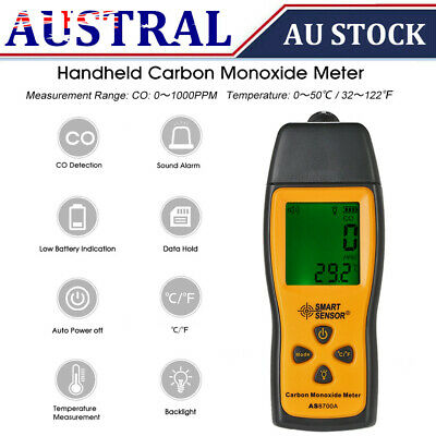 Carbon Monoxide Meter CO Gas Tester Monitor Detector 0-1000ppm LCD Display C9S8