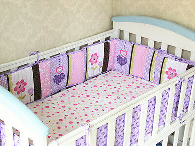 Baby Cot Crib Padded Bumper 4pc Fully Surrounded