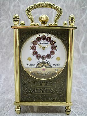 Hebdomas 15 Jewel Table Clock - Turtle Doves - Running Well