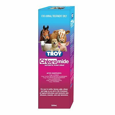 NEW Troy Chloromide Antiseptic Spray First Aid Horse Riding Care Grooming