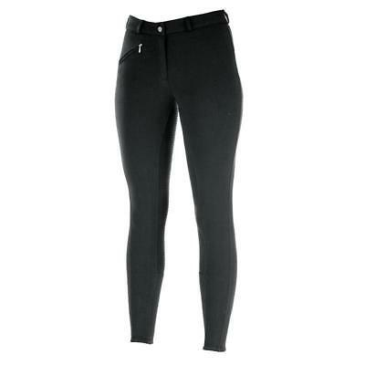 Horze Active Silicone Full Seat Breeches - Black