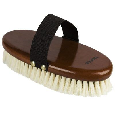 NEW Horze Soft Natural Body Brush Grooming Horse Riding Care Grooming