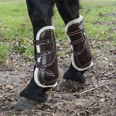 Caboose Equestrian Signature Leather Tendon and Fetlock Boots - Havana Brown