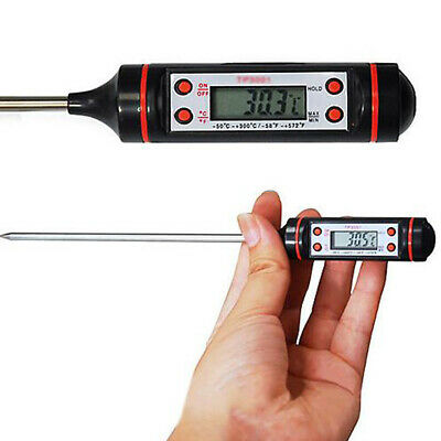 Digital Probe Thermometer Kitchen Food Temperature Cooking BBQ Meat Turkey Wine
