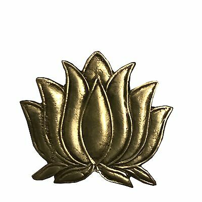 Antique Vintage Ethnic Silver Handcrafted Lotus Flower Design Pendant Jewelry