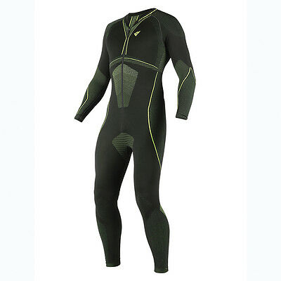 Dainese D-Core Dry Black / Fluo Yellow Motocycle Base Layer Suit | All Sizes