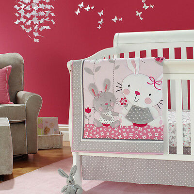 Baby Cot Crib Padded Bumper CribSheet & Quilt Set 6pc