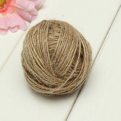 50/100M Natural Brown Jute Hemp Rope Twine Thread String Cord Shank