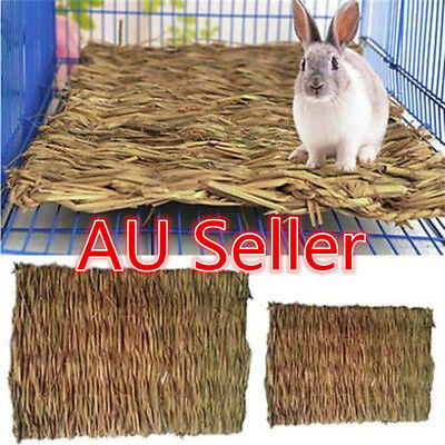 Small Animal Hamster Grass Chew Mat Breakers Toy Rabbit Rat Guinea Pig House  ON