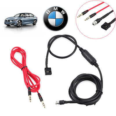AUX Input Mode Cable Female Dash Mountable Socket OEM 3.5mm For BMW E46 98-06