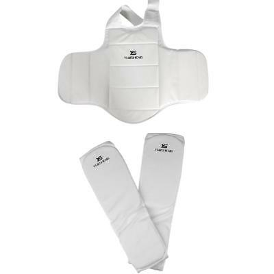 MMA Body Protector Set Chest Guard + Kickboxing Karate Shin Instep Guard