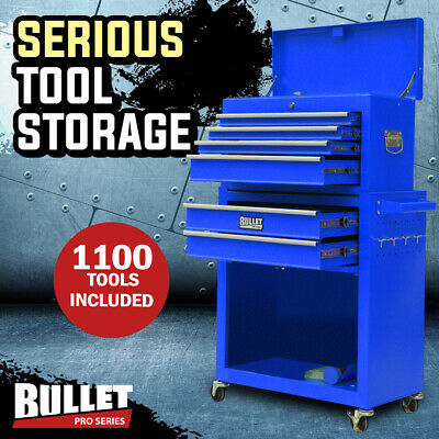 NEW BULLET 1200 Piece Tool Kit Cabinet Trolley Chest Toolbox Metric Tool Box Set