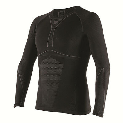 Dainese D-Core Dry LS Black / Anthracite Motorcycle Tee Base Layer | All Sizes