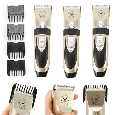 Electric Pet Dog Cat Hair Trimmer Shaver Grooming Clipper Quiet Haircut Machine