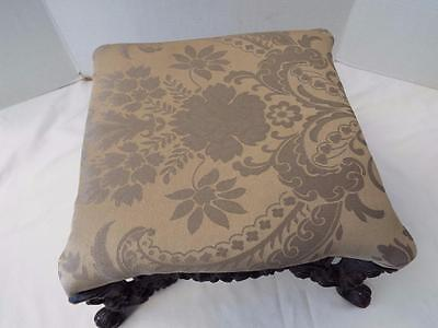 Antique Vintage Victorian Ornate Cast Iron Foot Stool Parlor Ottoman