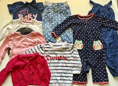 Bundle 26 Baby Toddler Girl Clothes 9-12 Month Funky Bright Next H&m F&f Bluezoo