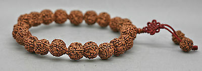 Fine Antique Chinese Prayer Beads Made Of Walnuts