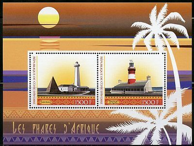 Ivory Coast 2017  Lighthouses Of Africa  Sheet Of Two  Mint Nh