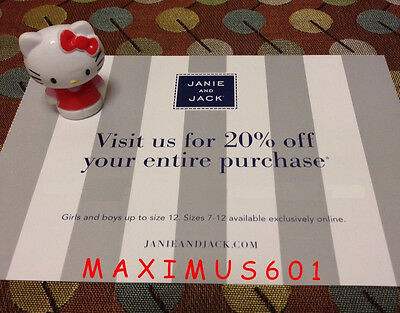 Janie and Jack 20% Off Entire Purchase Expires 10/03/17