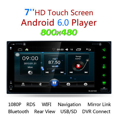 2DIN 7 Inch LCD RDS Android 6.0 Bluetooth GPS Navi Car Stereo Player for Toyota