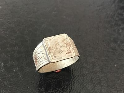 Silver ring 19th century. Patterns. Excellent. Rare. Original!!!!