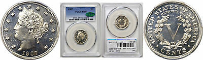 1907 Liberty Nickel PCGS PR-67 CAC