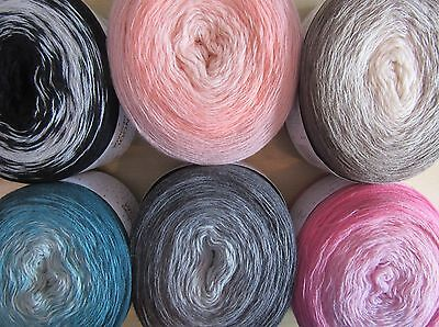 200g RICO CREATIVE WOOL DEGRADE & SUPER6 YARN CAKES and/or PATTERN BOOKLET