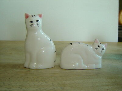 Black and White Cat Figurines Set of 2