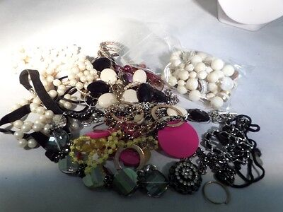 Vintage to Now Damaged Jewelry Lot for Parts Repairs or Crafting U5