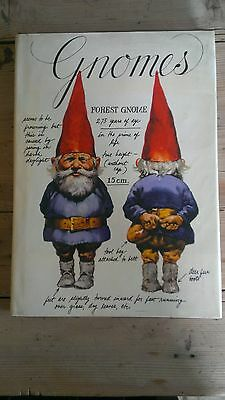 Gnomes 1st edition HB Poortvliet /Huygen Illustrated Classic Book