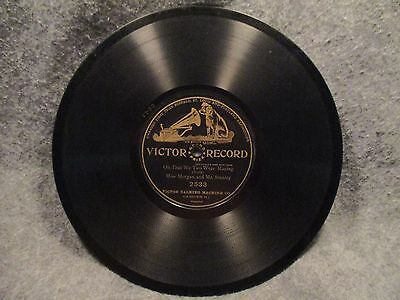 """78 RPM 10"""" Record Oh That We Two Were Maying One Sided Victor Records 2533"""