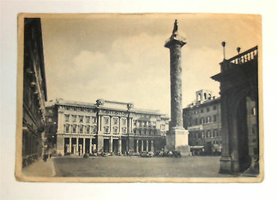 Reduced!  Vintage 1919 Postcard - Piazza Colonna - Rome, Italy