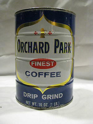 Vintage Orchard Park Coffee Can/Tin