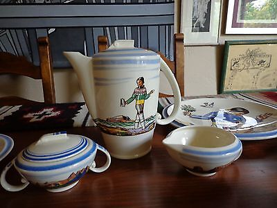 Rockwell Kent Salamina  Vernon Kilns Tea Set 25 Superb Pieces Very Rare Original