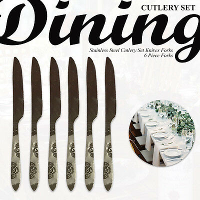 Cutlery Set Stainless Steel Cutlery Set Eating Knives, Forks, Spoons Family Set