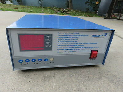 Sharpertek heated ultrasonic cleaning system generator 900w