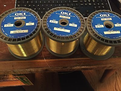 3 spools of Brass EDM Wire by OKI (Made in Japan) .25mm