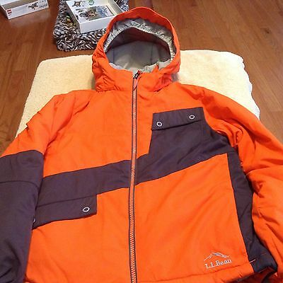 LL Bean Orange Blac Winter Coat/Snowboard Jacket Boys/Girls/Kids/Youth Size S8