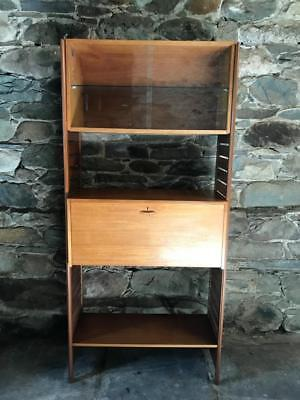 Vintage Retro Mid Century Teak Staples Ladderax Shelving Unit