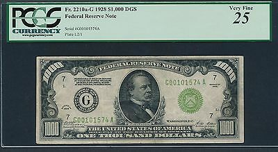 1928 $1000 One Thousand Dollar Bill Redeemable In Gold Note Money PCGS VF 25