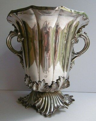 Antique Silver Plated Champagne Wine Bucket W&Co S