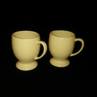 2 Southern Living At Home Hospitality Pedestal Mug Butter Yellow Gail Pittman