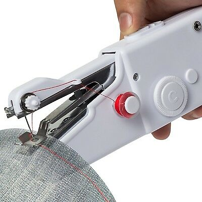 Mini Portable Hand Held Sewing Machine Powerful Stitch Tool Home Cordless Cloth