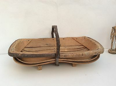 beautiful old handmade trug basket, good condition
