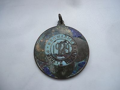 Old Medal New Market Private Stand 1929 Year Number 811