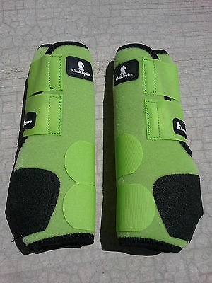 LIME GREEN FRONT classic equine legacy boots horse tack SMB sport medicine boots