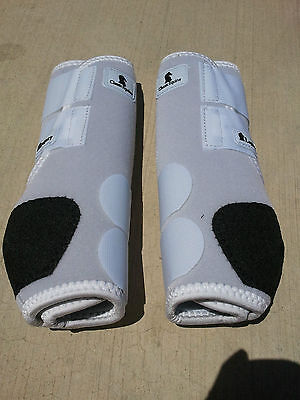 Classic Equine Legacy Boots WHITE FRONT or HIND  Horse Tack SMB Sport Medicine