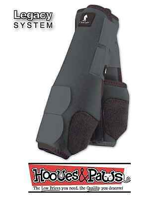 Grey Horse SMB Classic equine legacy boots Sport medicine boots Steel Gray